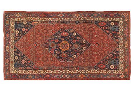 Antique Bidjar Carpet, 7'7