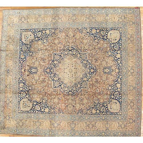 "Persian Tabriz Carpet, 12'3"" x 13'6"""