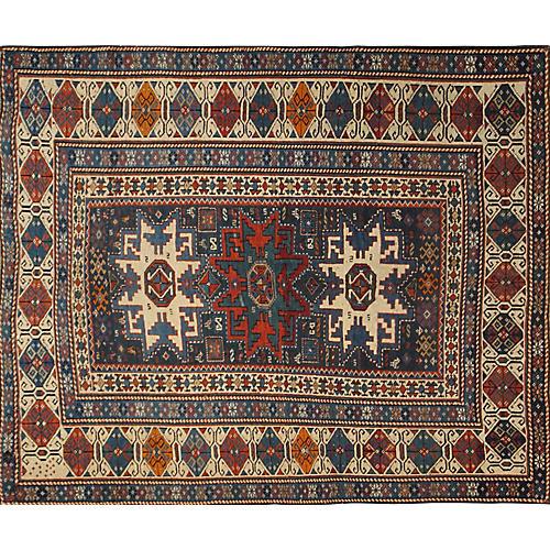 "Antique Kazak Rug, 3'7"" x 4'1"""