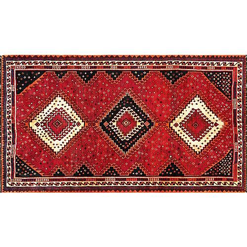 "Persian Shiraz Rug, 4'10"" x 8'10"""