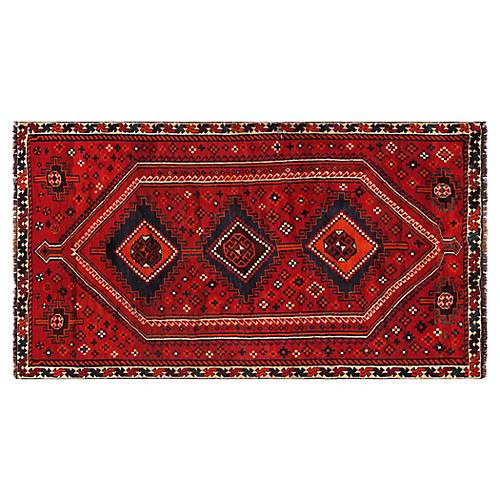 "Persian Shiraz Rug, 4'9"" x 8'7"""