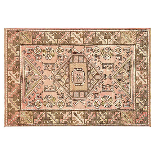 "Turkish Oushak Rug, 4'1"" x 6'"