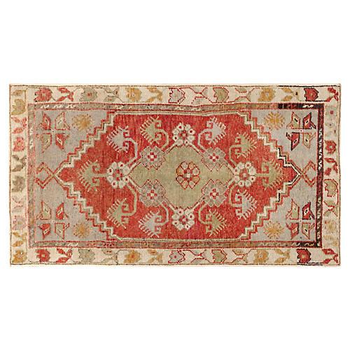 "Turkish Anatolian Rug, 2'6"" x 4'6"""