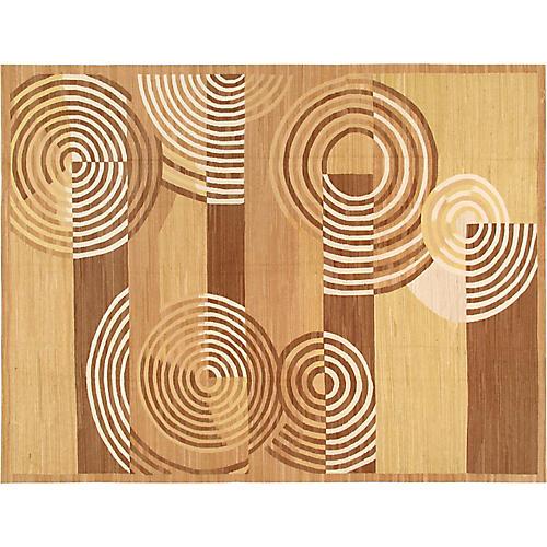 "Art Deco Woven Rug, 9'11"" X 13'7"""