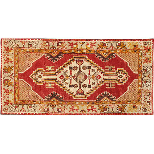 "Turkish Anatolian Rug, 2' 7"" X 5' 1"""