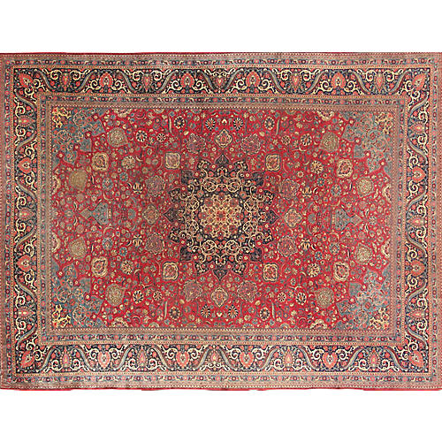 """Kashan Hand-Knotted Rug,10' 5""""X13' 6"""""""