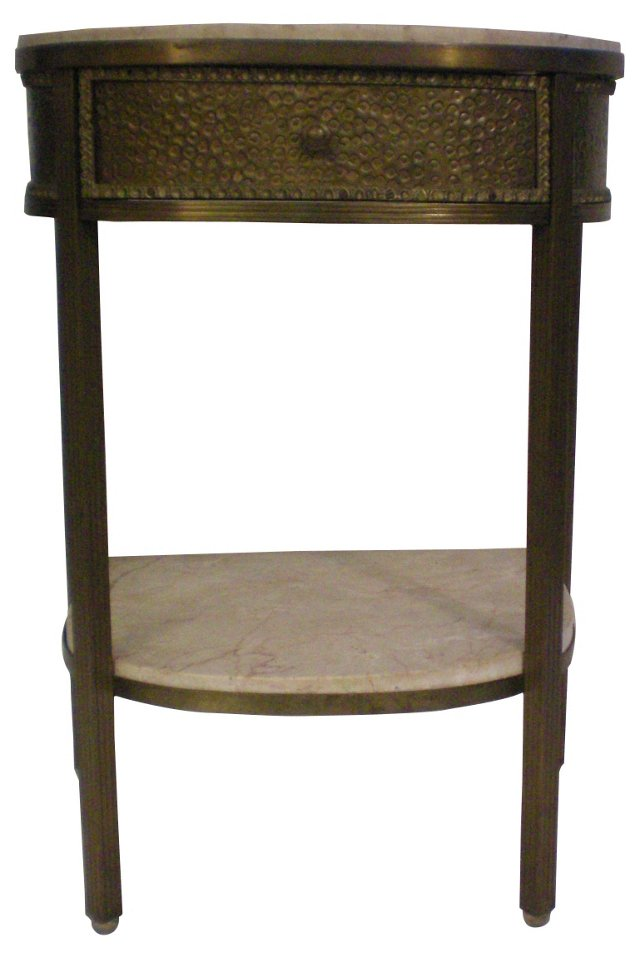 Brass & Marble Side Table