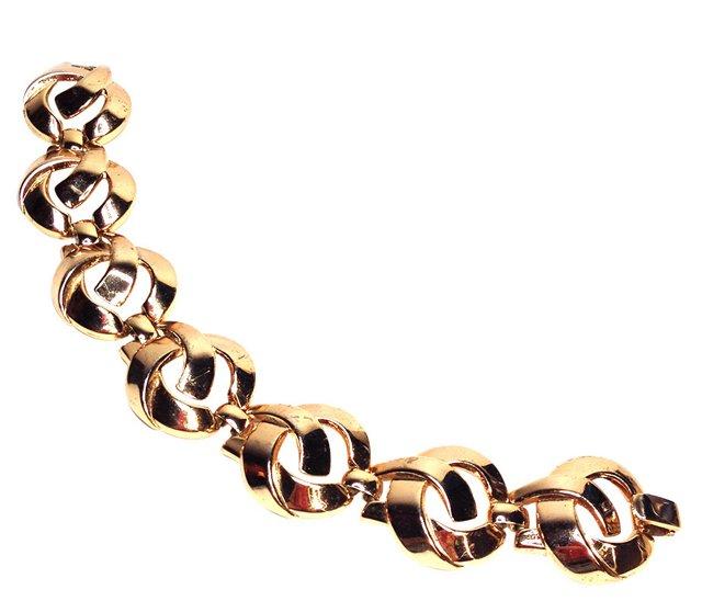 Trifari Ross Gold  Plated Bracelet
