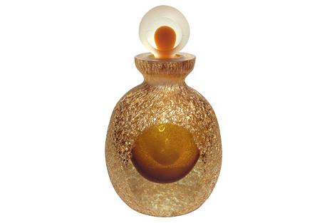 Pebbled Amber Perfume Bottle