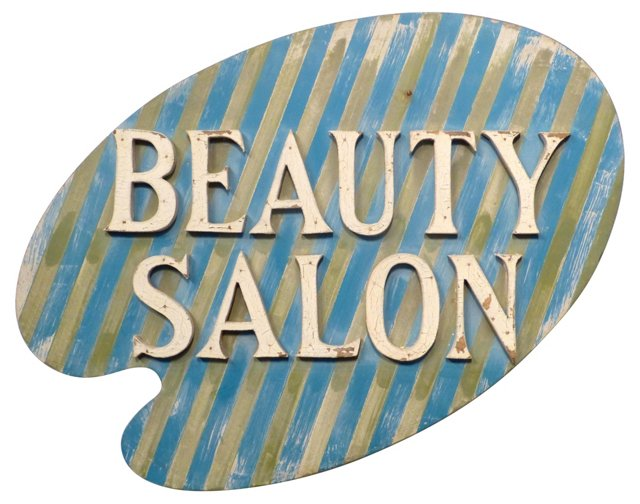 Painted Beauty Salon Trade Sign