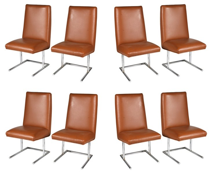 Chrome  Side Chairs, S/8