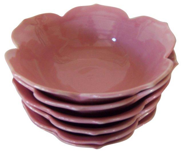 Pink Lotus Bowls, S/6