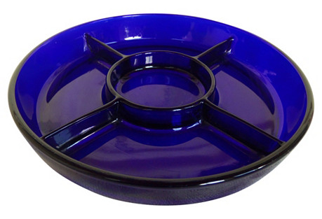 French Cobalt Serving Dish