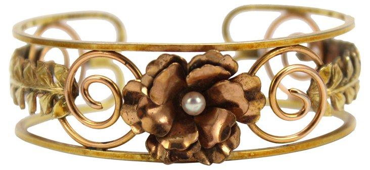 1950s Scroll & Flower Bracelet