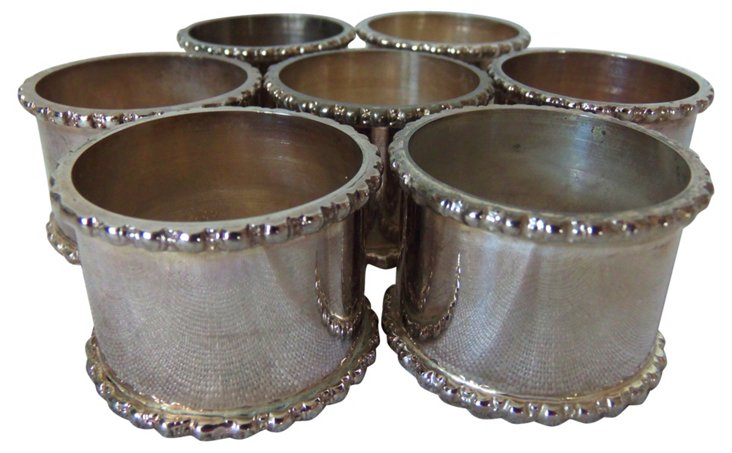 Silverplate Napkin Holders, S/7