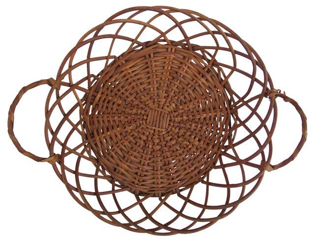 Reed Basket w/ Handles