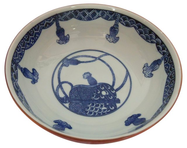 Chinese Red &  Blue Bowl