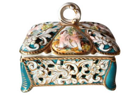 Capodimonte Cherub Box