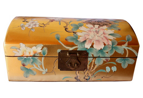 Chinoiserie Gilt Floral Box