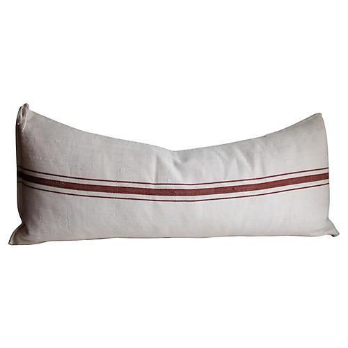 French Herringbone Linen Body Pillow