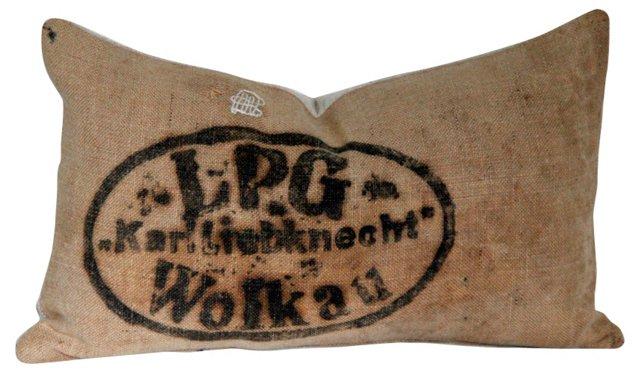 Jute & French Linen Pillow