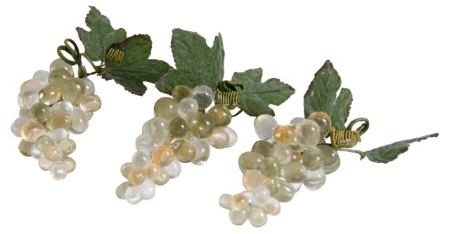 Lucite Grape Clusters, Set of 3