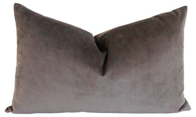 Graphite Gray Velvet Pillow