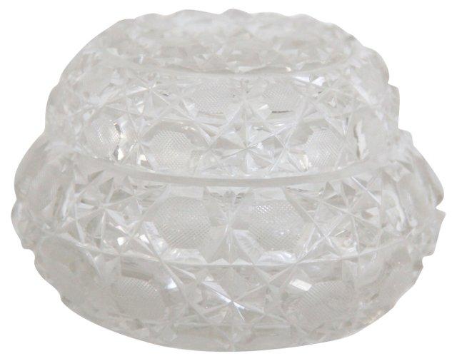 Heavy Cut-Crystal Vanity Jar