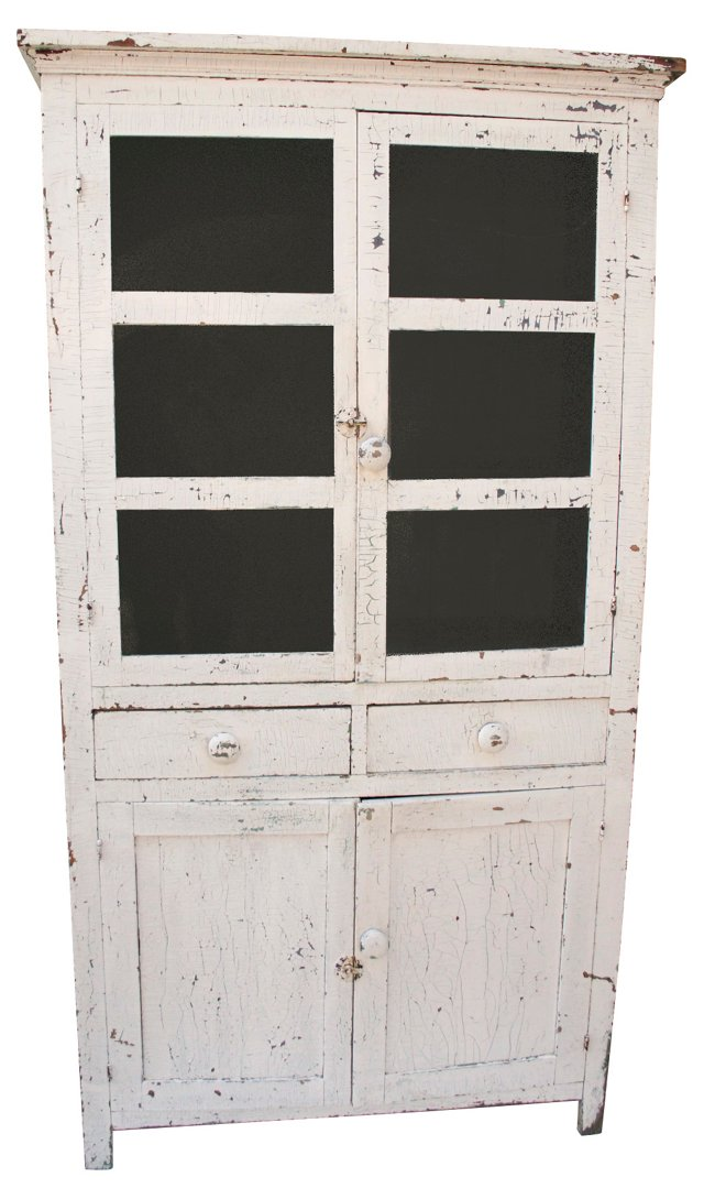 Antique American Farmhouse Cabinet