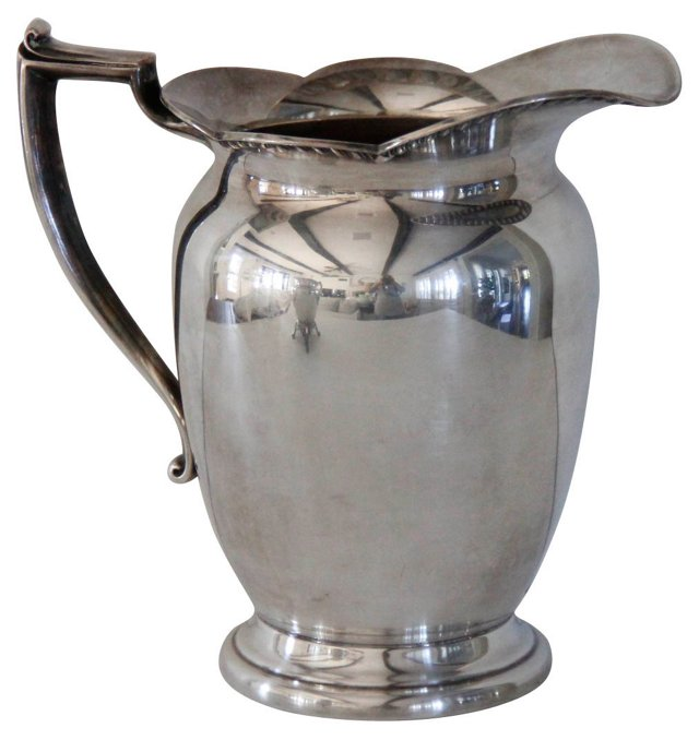 Silverplate Water Pitcher