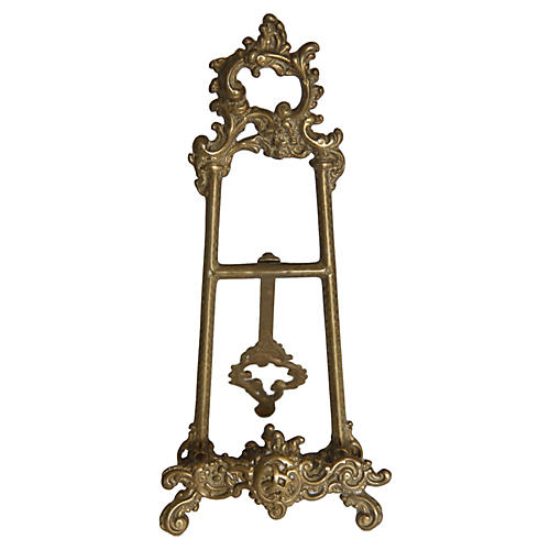 French-Style Brass Easel