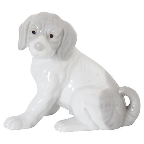 Gray Porcelain Beagle