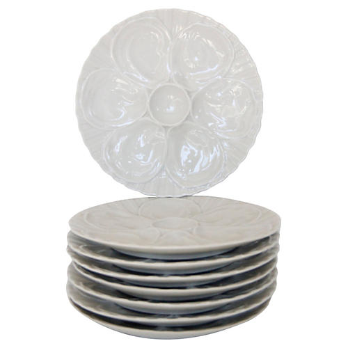 French Oyster Plates, S/8
