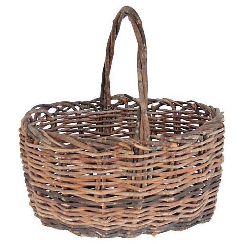 French Twig Harvest Basket