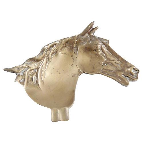 Equestrian Brass Ashtray