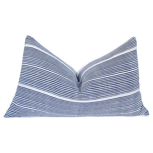 Striped Mud Cloth & Linen Pillow