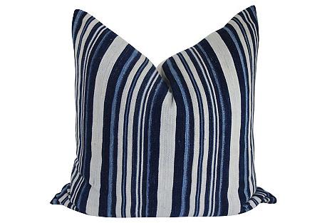 Mali Indigo Blues Striped Pillow