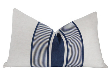 French Linen & Ticking Stripe Pillow