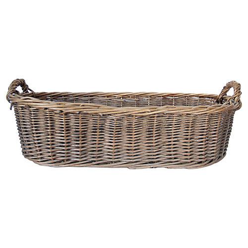 French Oblong Market Basket