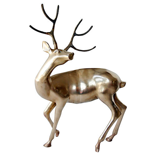 Large-Scale Brass Reindeer