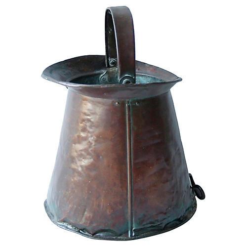 19th-C. NY Brewer's Copper 5-GL Measure