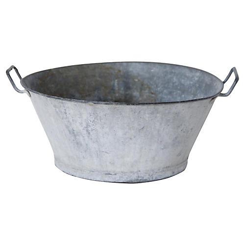 French Zinc Round Washtub