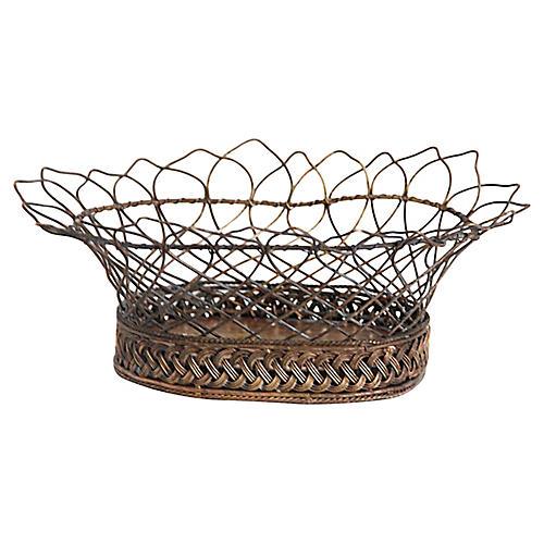 Antique Brass Wire Basket