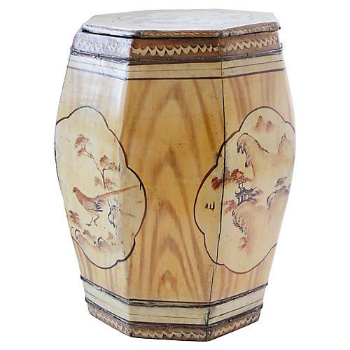 Antique Thai Barrel Stool