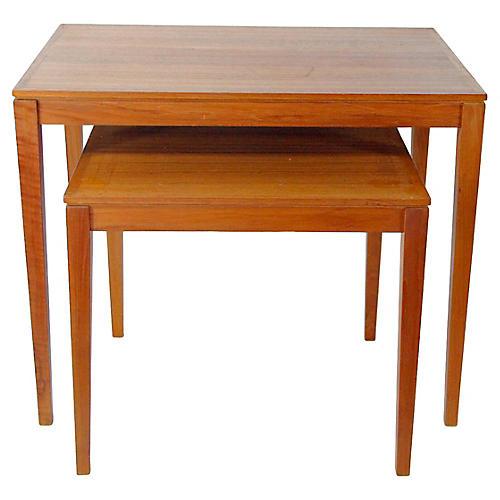 Danish Modern Bent Silberg Tables, S/2