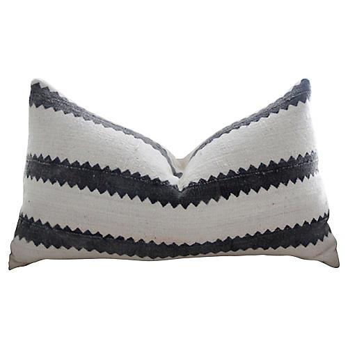 Mali Striped Organic Mud Cloth Pillow