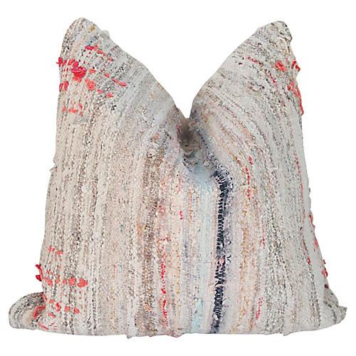 1920s Swedish Rag Rug Pillow