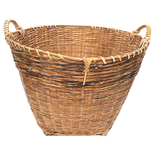 1960s Thai Split-Bamboo Basket