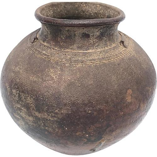 Primitive Pottery Vessel