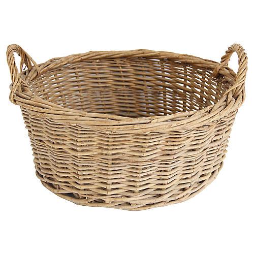 French Market Basket w/ Handles